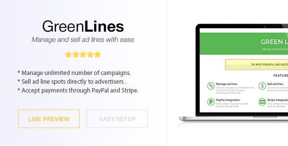 Green Lines - Standalone Script - Manage and Sell Ad Lines