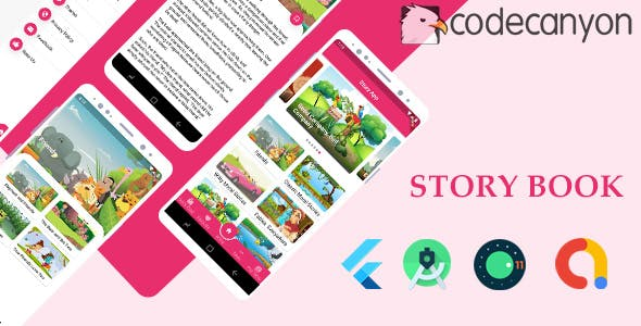 Story Book with admob ready to publish in flutter