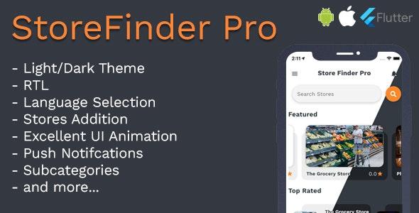 StoreFinder Pro Full App Flutter v1.0 - CodeCanyon Item for Sale