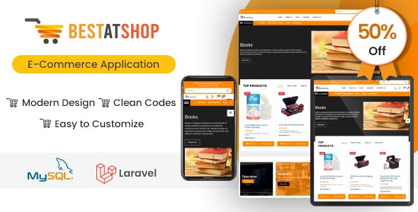 Bestatshop - Online Ecommerce Shopping Script with Admin Panel (Web + Ionic Android & IOS apps)