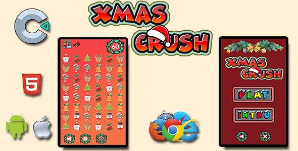 Xmas Crush - HTML5 Mobile Game - CodeCanyon Item for Sale