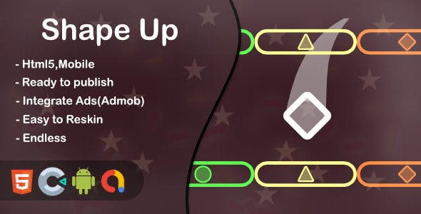 Shape Up(Html5 + Construct 3 +Mobile)