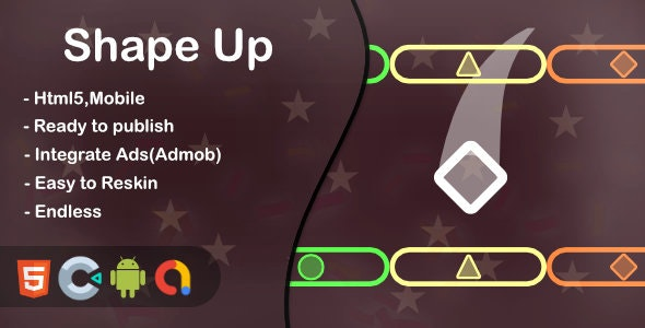 Shape Up(Html5 + Construct 3 +Mobile) - CodeCanyon Item for Sale