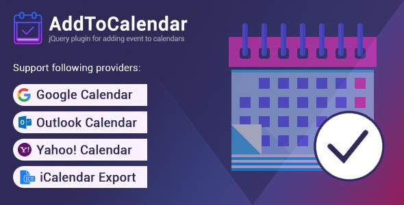 AddToCalendar - Add Events to Your Calendar - CodeCanyon Item for Sale