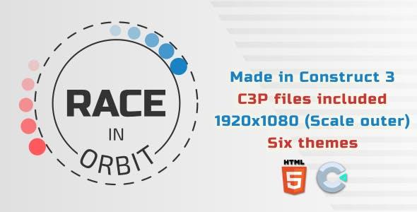 Race in orbit - HTML5 Skill game