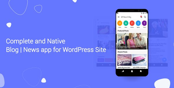 Blog and News app for WordPress Site with AdMob and Firebase Push Notification