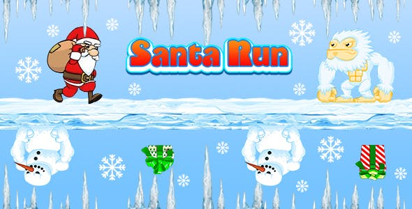 Santa Run (CAPX and HTML5) Christmas Game