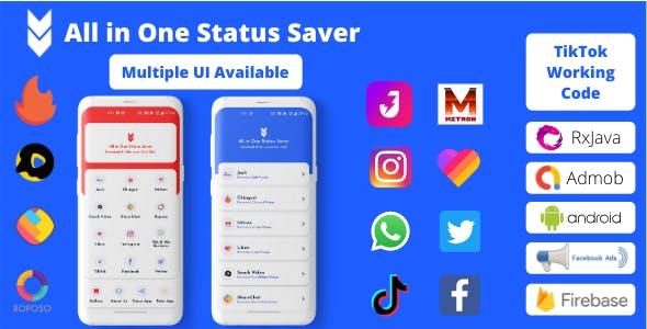 All in One Status Saver - Josh, Chingari, Mitron, SnackVideo, ShareChat, Roposo, Likee, Insta & More
