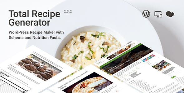 Total Recipe Generator - WordPress Recipe Maker with Schema and Nutrition Facts