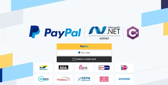 PayPal Checkout in ASP.NET Web Forms & C#, Using Orders v2 REST API, Server-side Integration