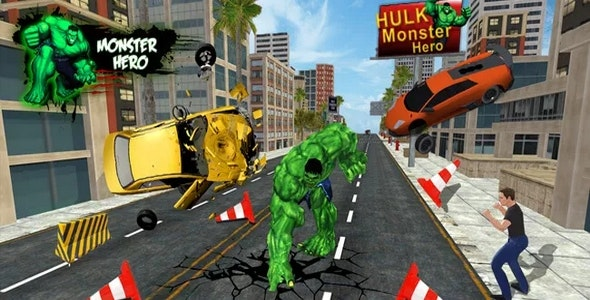 Monster Super Heroes  Incredible Fight In City - CodeCanyon Item for Sale