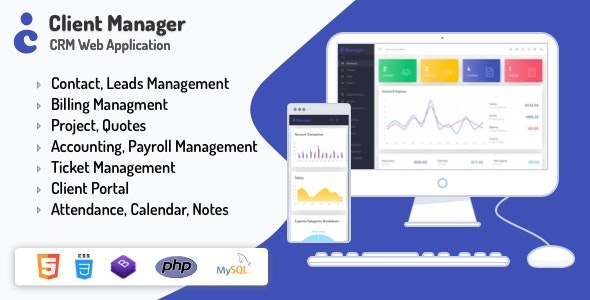 Client Manager - CRM & Billing Management Web Application with GDPR Compliance - CodeCanyon Item for Sale