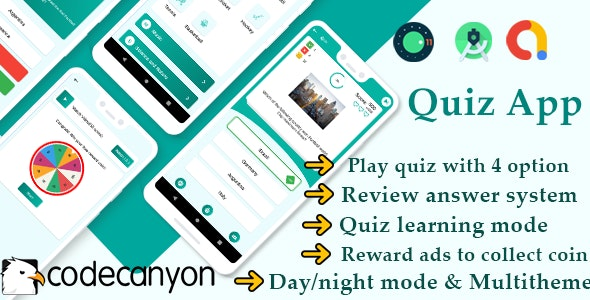 Ultimate quiz app : general knowledge quiz with admob ready to publish template - CodeCanyon Item for Sale