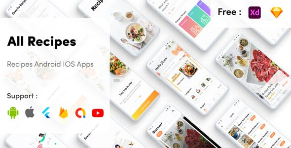 Flutter Recipe App Cookbook with admin panel flutter recipe mobile app