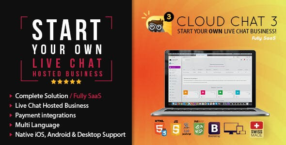 Fully SaaS Live Support Chat - Cloud Chat 3