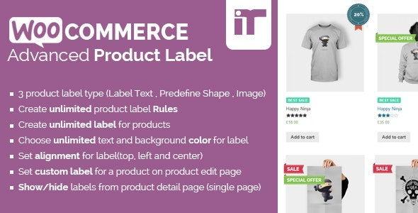 WooCommerce Advanced Product Label - CodeCanyon Item for Sale