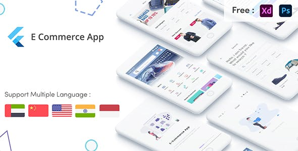 Flutter E-Commerce UI KIT Template in flutter