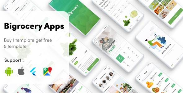 Flutter Grocery - Bigrocery in Flutter grocery app - CodeCanyon Item for Sale