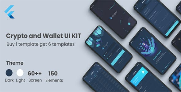 Flutter Crypto and Wallet UI KIT Template in flutter cryptocurrency apps