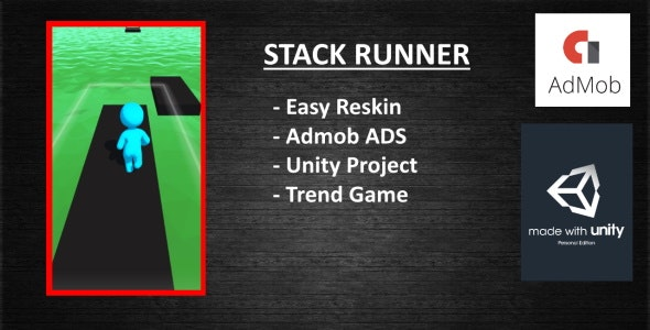 Stack Runner (Unity - Admob) - CodeCanyon Item for Sale
