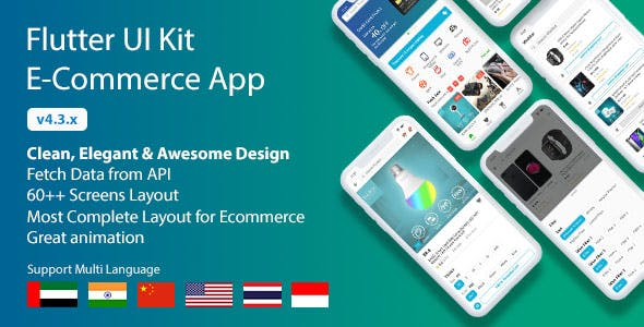 Flutter UI Kit - E-Commerce App
