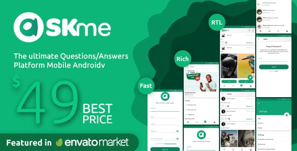 AskMe Android- Mobile Questions & Answers Social Network Application