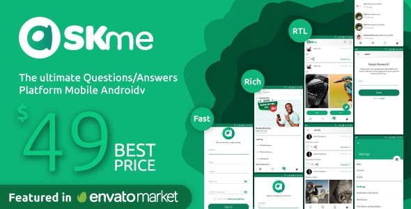 AskMe Android v1.0.1 – Mobile Questions & Answers Social Network Application