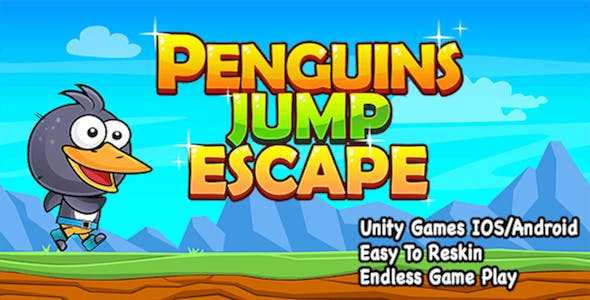 Penguin Jump Escape + Unity Project + IOS and Android