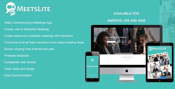 MeetsLite Video Conferencing Solution Android, iOS, WEB & Desktop Application (Windows, Mac, Linux )