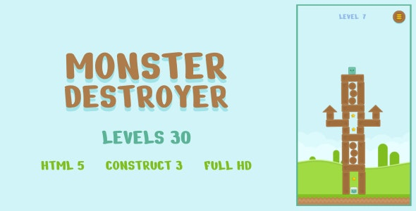 Monster Destroyer - HTML5 Game (Construct3) - CodeCanyon Item for Sale