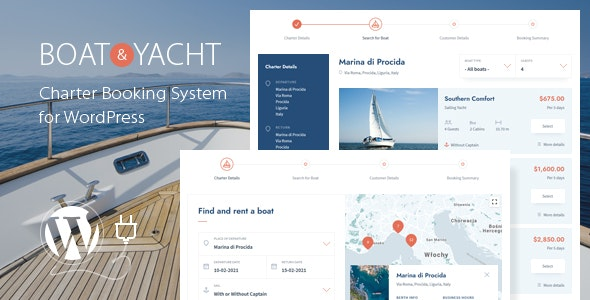 Boat and Yacht Charter Booking System for WordPress - CodeCanyon Item for Sale