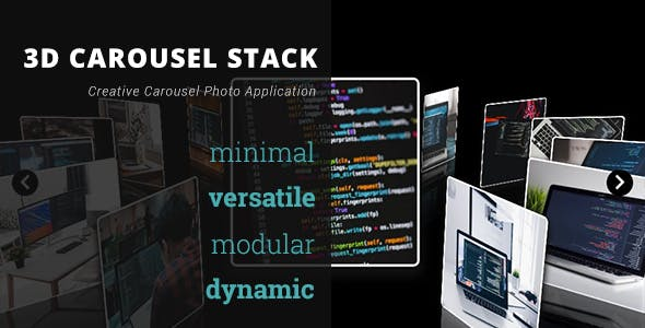 3D Carousel Stack Gallery - Advanced Media Gallery