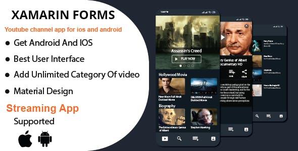 VideoBrek-Xamrin Mobile Application