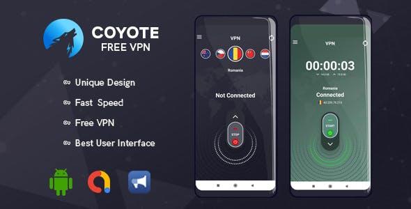 Coyoto Free VPN | Unique UI