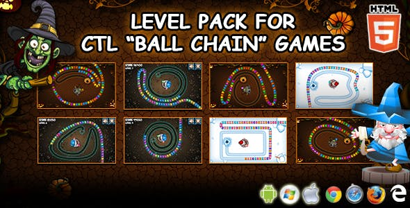 """Extra Levels Pack for CTL """"Ball Chain"""" Games"""