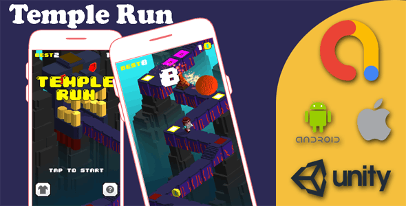 Temple Runner Game - iOS & Android Game - Unity Game Project