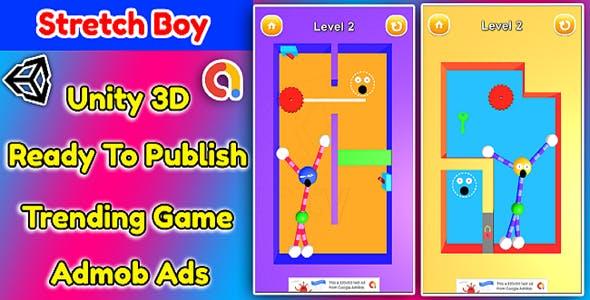 Stretch Boy 3D Game Unity Source Code + Admob Ads