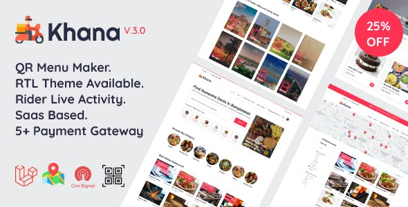 Khana - Multi Resturant Food Ordering, Restaurant Management With Saas And QR Menu Maker