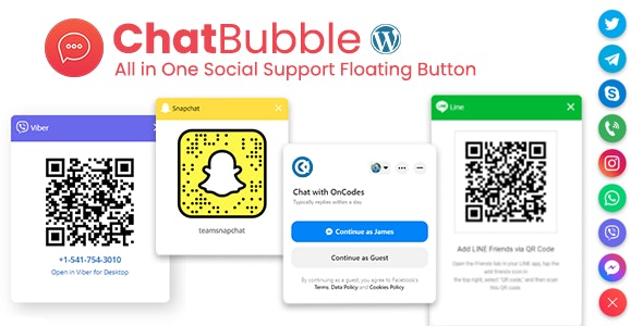 ChatBubble - All in One Social Support Floating Button - CodeCanyon Item for Sale
