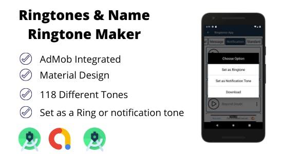 Ringtones and Name Ringtone Maker with AdMob