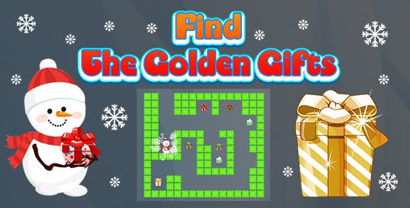 Find The Golden Gifts (CAPX and HTML5) Christmas Game