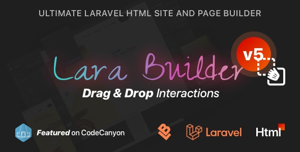 LaraBuilder - Laravel Drag&Drop SaaS HTML site builder - CodeCanyon Item for Sale