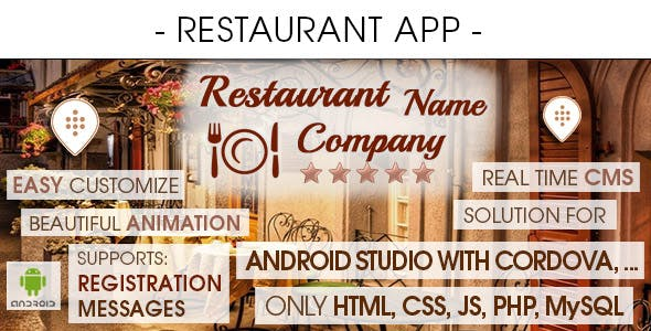 Restaurant App With CMS - Android [ 2021 Edition ]