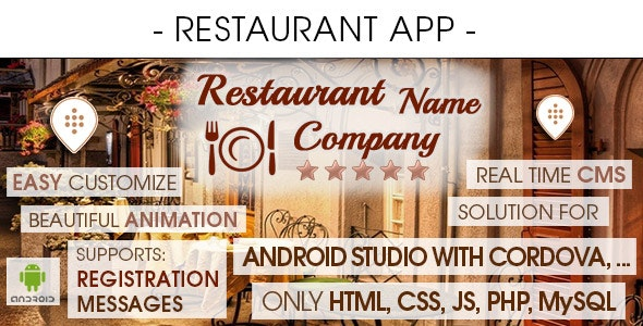 Restaurant App With CMS - Android [ 2021 Edition ] - CodeCanyon Item for Sale