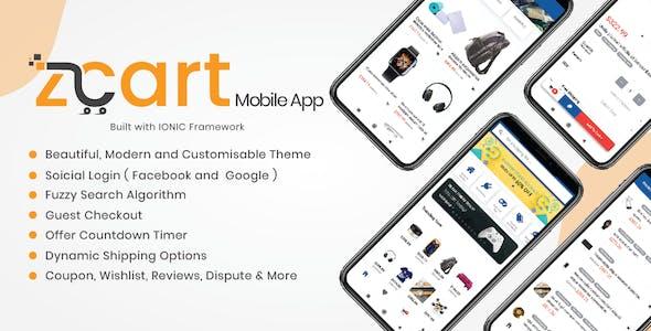 Customer App for zCart Multi-vendor Marketplace