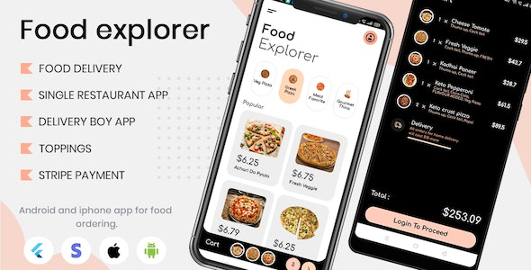 Food Explorer - Single restaurant Food delivery app with delivery boy in flutter - CodeCanyon Item for Sale