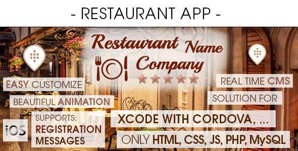 Restaurant App With CMS - iOS [ 2021 Edition ]