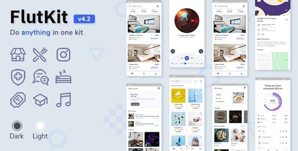 Flutter UI Kit - FlutKit