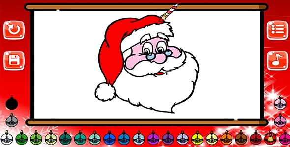 Xmas Coloring Book - HTML5 Mobile Game