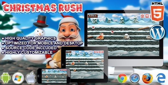 Christmas Rush - HTML5 Running Game - CodeCanyon Item for Sale
